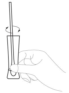 testsample neusholte vermengen buffervloeistof