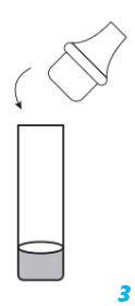 stap3 oplossing testvloeistof buisje afsluiten met druppeldop